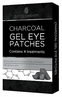 Pretty Smooth Pack of 4 Charcoal Gel Eye Patches Brighten Skin