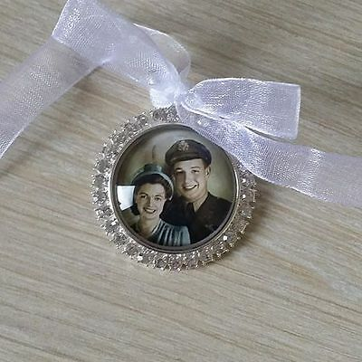 Wedding Bouquet Photo Memory Charm Flower Girl Bridesmaid Bridal Keepsake Gift
