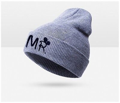 Baby Boy Grey LOGO Beanie MR Embroided Winter Beanie NEW