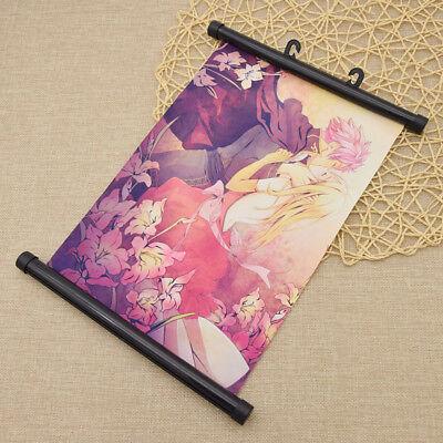 Fairy Tail Pattern Scroll Painting Anime Wall Scroll Poster Home Decor Fan Favor