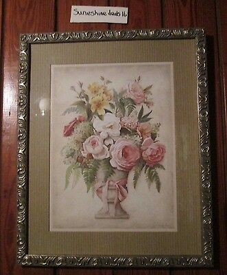 Home Interior Beautiful Floral Picture By LISA AUDIT 21X17 FREE SHIPPING