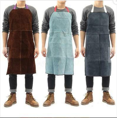 """24""""x35"""" Welding Equipment Heat Resistant Insulation Protection Apron Cow Leather"""