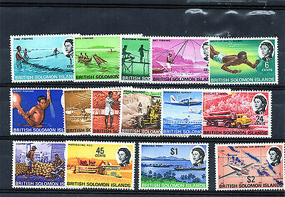 SOLOMIN IS. 1968 definitive set/15  MUH