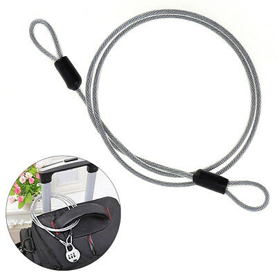 Stainless Steel Bicycle Bike Lock Wire Cable Chain Security Rope Line 2mmx 100cm