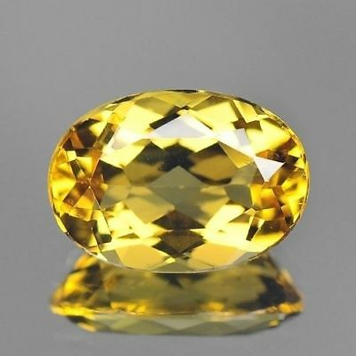 2.00cts 7x10mm Rare Natural Loose Gemstones Oval Brazil Yellow Beryl Free Ship