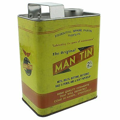 Men's Money Box- MAN TIN Oil Can Motor Design Gift