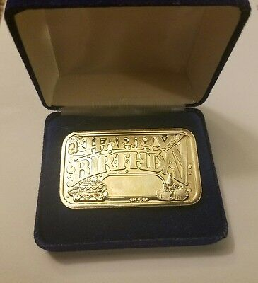 Happy Birthday 1 oz 999 Silver Bar