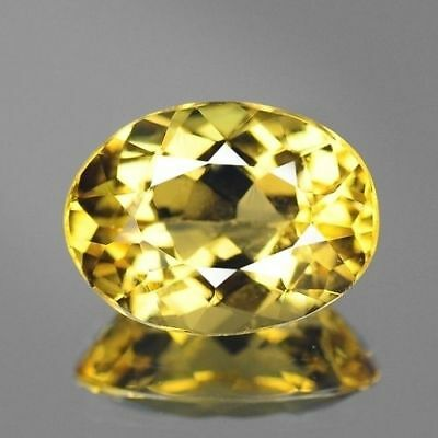 2.25cts 8x10mm Rare Natural Loose Gemstones Oval Brazil Yellow Beryl Free Ship