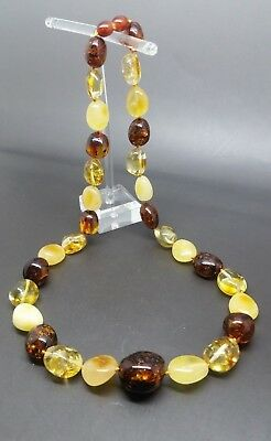 """21"""" Beautiful Genuine Baltic Amber Necklace for Woman MIX Color"""