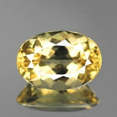 2.10cts 7x10mm Rare Natural Loose Gemstones Oval Brazil Yellow Beryl Free Ship