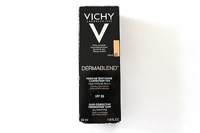 Vichy Dermablend Fluid Corrective Foundation 16HR SPF 35 - Shade: Gold 45