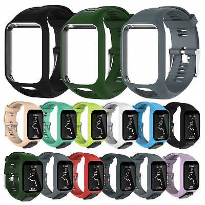Silicone Replacement Band Strap Wristband forTomTom Runner 2&3/Golfer 2/Spark 3