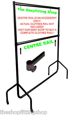 SUPER Heavy Duty 6ft Long CENTRE RAIL ONLY Creates a Double Hanging Clothes Rail