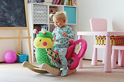 Baby Rocker Butterfly Bouncer Educational Music Wood Seat Toddler Play Toy Chair
