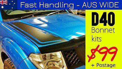 D40 Turbo NISSAN Navara BONNET stripes kit decals sticker stripe decal stickers