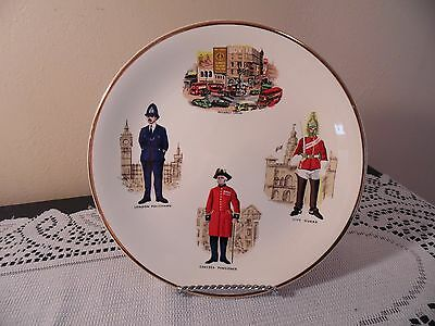 Vintage Decorative Wall Plate Weatherby Hanley England Royal Falcon-Ware London