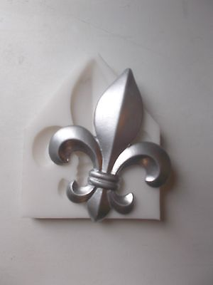 Large Fleur De Lis Silicone Rubber Mould Make Decorate Furniture Moulds