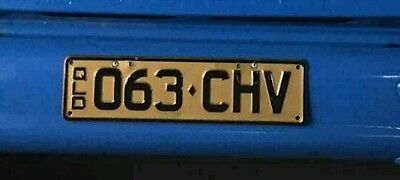 PPQ Personalised chevrolet number plates 063-CHV