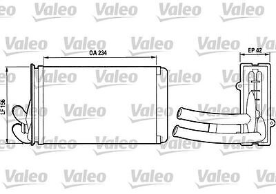 VALEO 812012 Heater Matrix  for AUDI 80 COUPE 90 CABRIOLET