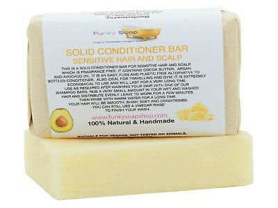 1x Solid Conditioner Bar sensitive hair and scalp, 95g, Handmade and economical