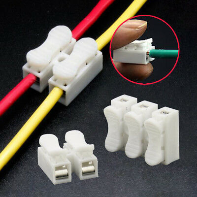 2017 30PCS x 2P Lamp Quick Spring Clamp No Screw Weding Wire Connector~