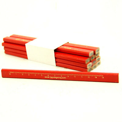 Carpenter Red Pencil Pen DIY Wood Work Builder Joiners Marking Marker-Tool 175mm