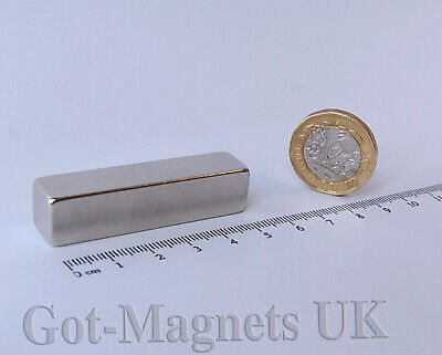 50x12x12 mm (N35)  Neodymium Magnet Rectangular Block Bar