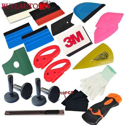 21pcs Car Wrap Application Vinyl Tool Kit 3M Felt Squeegee Cutter Magnet Holder