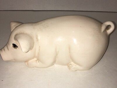 "Vintage Ceramic  Pig 6"" Long White"
