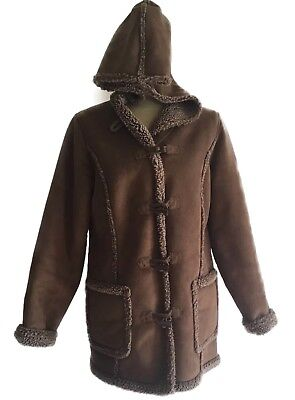 L.L. Bean Brown Toggle Button Parka Jacket Women's Small