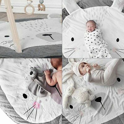 Crawl Rug Lovely Rabbit Shape Playing Crawling Mat Children Room Decorate Mat UK