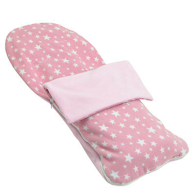 Fleece Footmuff Compatible With Baby Jogger City Mini GT - Light Pink Star