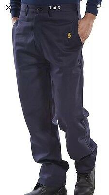 BNWTS Click Fire Retardant Work Trousers Navy Size 40