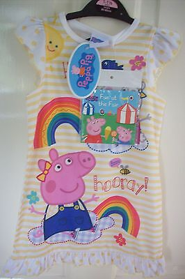 Girls Peppa Pig nightdress and book age 12-18months  BNWT official peppa item