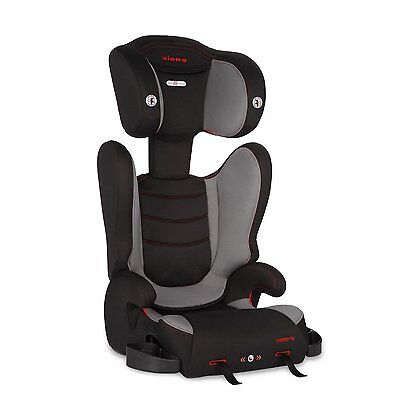 Diono Cambria High Back Booster Car Seat w/ Adjustable Headrest in Graphite