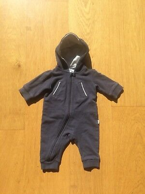 Baby Boys Hugo Boss All In One Tracksuit Hooded Snow Suit Coat Outfit 0-1 Month