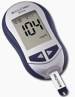 Accu-Chek Aviva Blood Glucose Meter/Monitor - Blue - Replacement Meter