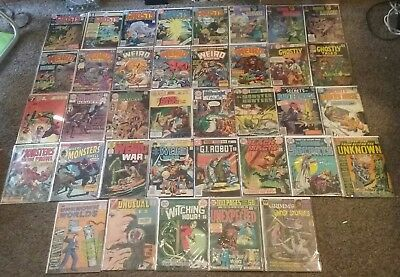 Dc Issue Bronze  Silver Horror Comic Lot House Of Mystery Ghosts Weird War Tales