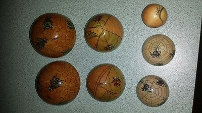Nesting balls showing honey bees, ladybugs & ants various insects & spiders