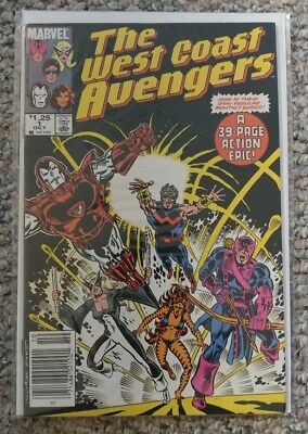 THE WEST COAST AVENGERS Issue #1 [Marvel 1985] VF/NM or Better!