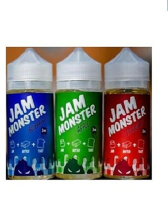 Jam Monster Grape E liquid Vape Juice 70/30 VG/PG10x10ml/0mg Made in USA
