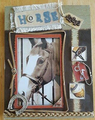 """Unique Horse Frame for the Horse Lover! Standing Frame Holds a 4 x 6"""" Photo"""