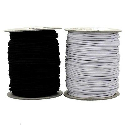 [wamami] Round Rope Elastic - Black - 1 Mm, 2 Mm, 3 Mm In Various Lengths
