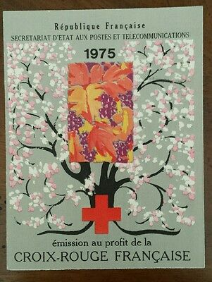 Timbre France neuf ** carnet croix rouge 1975