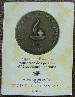 Timbre France neuf ** carnet croix rouge 1963