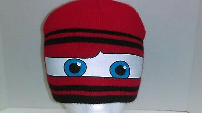 Disney-Pixar Cars Winter Knit Beanie -Youth 4 to 7 Years - Excellent Pre-owned