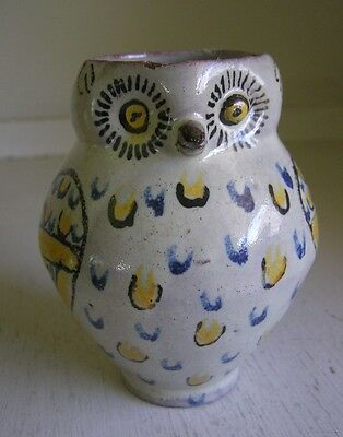 Figural Owl Pottery Creamer Pitcher Looks Old Mexican Pottery?  Folk Art