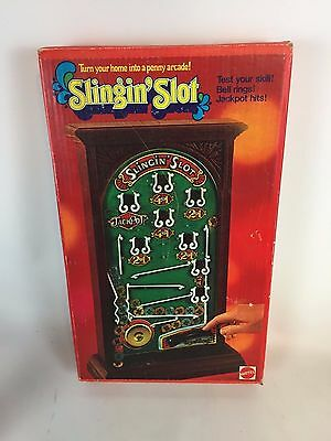1973 Slingin' Slot Arcade Game with Tokens, Works A9