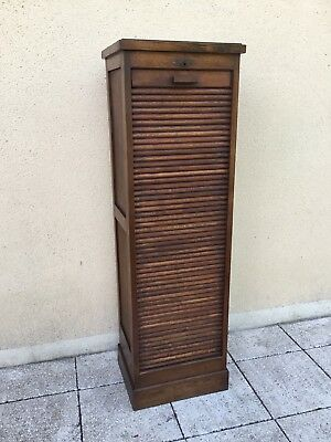 Antique Vintage French Filing Cabinet Tambour Roller Shutter Delivery Available