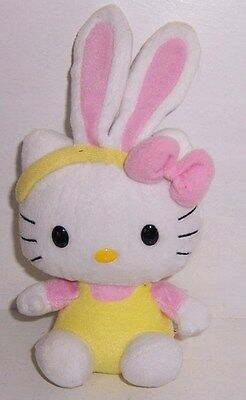 Hello Kitty TY Beanie Babies Easter Bunny with Pink Ears Plush 2010 No hang tag